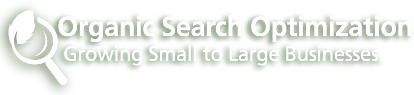 Organic Search Optimization. Growing Small to Large Businesses